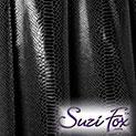Black Metallic Snake Print Spandex